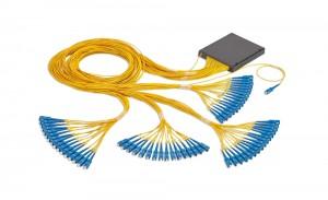 1x64 Kassetis PLC Splitter SC/UPC Pistikutega