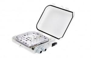 Päätekotelo 8xSC/SPX, 206x180x45mm, Muovi IP66