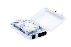 Wall Box 4xSC/SPX, 186x114x40mm, Plastic IP65