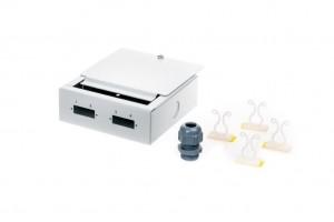 Seinakarp 2xSC/DPX, 110x110x40mm, Metall